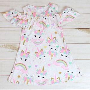 Cold shoulder unicorn dress